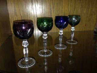 4 Römer Weingläser Geschliffen Sterne Glas Kristall,  Weihnachten Naht Bild