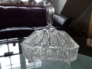 Zauberhafte Große Rechteckige Kristall Bonbonniere Aus Omas Zeiten Bild