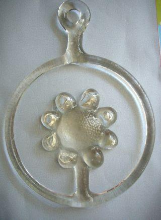 Fensterbild / Glasbild Glas Schweden Design Kosta Boda Motiv - Blumen Bild