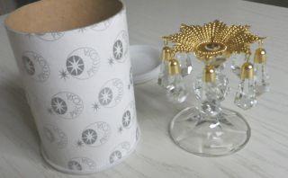 Kerzenleuchter Kerzenhalter Ständer Blei Glas Kristall Bohemia Qualität Ovp Bild