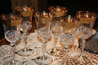Sechs WeinglÄser Aus Italien / Murano. Bild