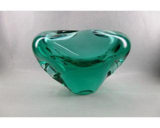 Traumhaft SchÖne Murano Objekt Vase Design Der 60er Jahre In Smaragd - GrÜn Selten Bild