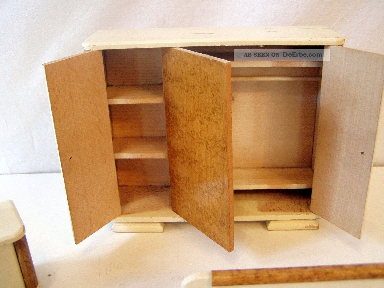 schlafzimmer m bel 30er jahre puppenstube puppenhaus puppenm bel. Black Bedroom Furniture Sets. Home Design Ideas