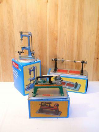 (25) Wilesco 3 Teile Antriebsmodelle Für Dampfmaschine In Originalverpackung Bild