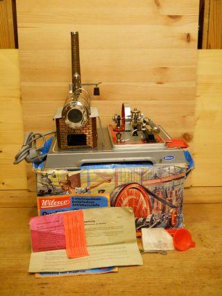 (68) Wilesco Dampfmaschine D 16 El.  Mit Karton Zubehör Bild