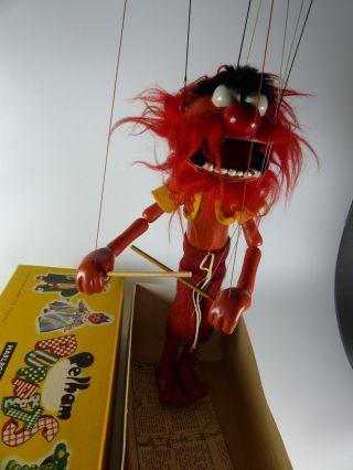 Vintage Pelham Puppet - Muppet Show Animal Drummer / Tier Marionette Bild