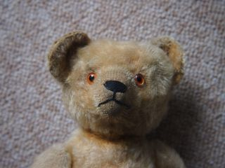 Uralter Teddy,  Fa.  Bing,  20er Jahre,  Mohair Gelb Bild