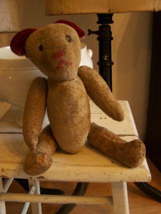 Antikes Tierchen Stofftier Bär Teddy Aus Frankreic 1900 Um French Shabby Chic Bild