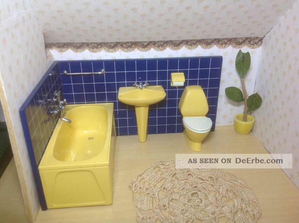 lundby puppenhaus badezimmer 70ger jahre einwandfrei. Black Bedroom Furniture Sets. Home Design Ideas