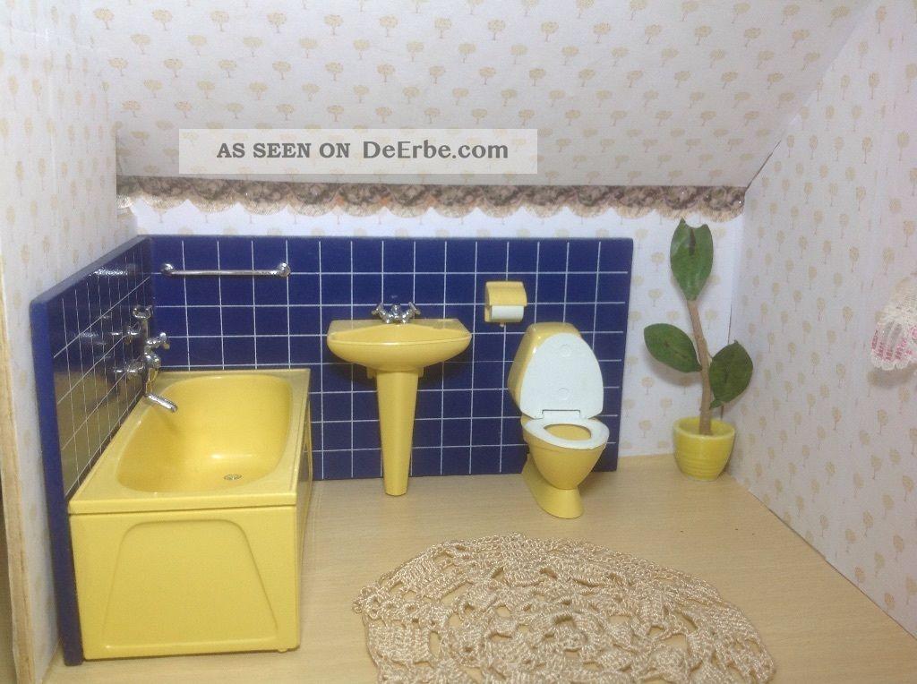 Lundby puppenhaus badezimmer 70ger jahre einwandfrei for Badezimmer 70 jahre