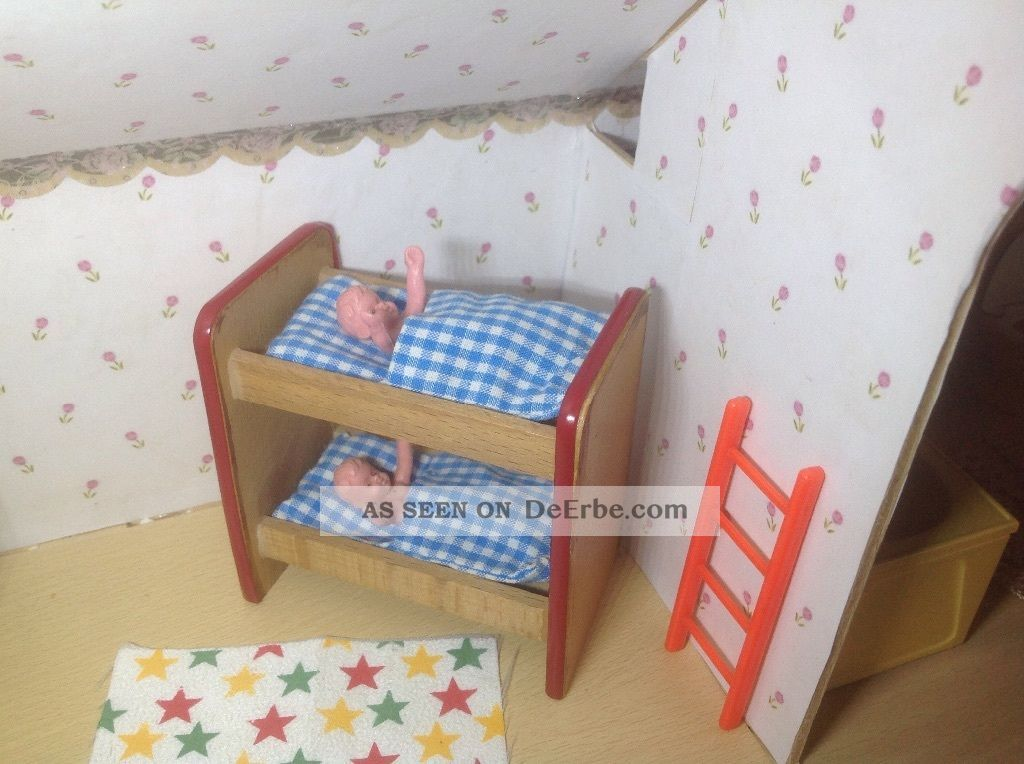 Etagenbett Puppenstube : Puppenhaus etagenbett von caco sehr alt auch für das lundby