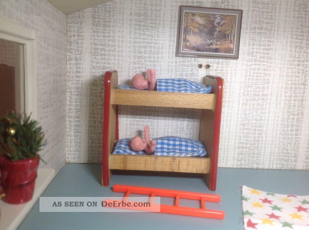 Etagenbett Für Puppenhaus : Puppenhaus etagenbett von caco sehr alt auch für das lundby