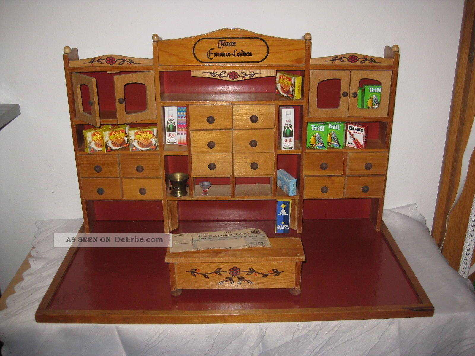 kaufmannsladen um 1950 holz div schubladen tante emma tischkaufladen m tresen. Black Bedroom Furniture Sets. Home Design Ideas