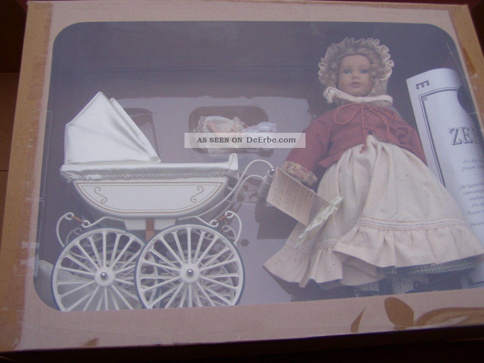 m rklin puppenwagen mit puppe und baby einmalige edition 1995 zertifikat. Black Bedroom Furniture Sets. Home Design Ideas