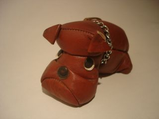 Spielzeug Leder Leather Dog Hund 70s 70er Sallingboe Denmark Dänemark Toy Bild