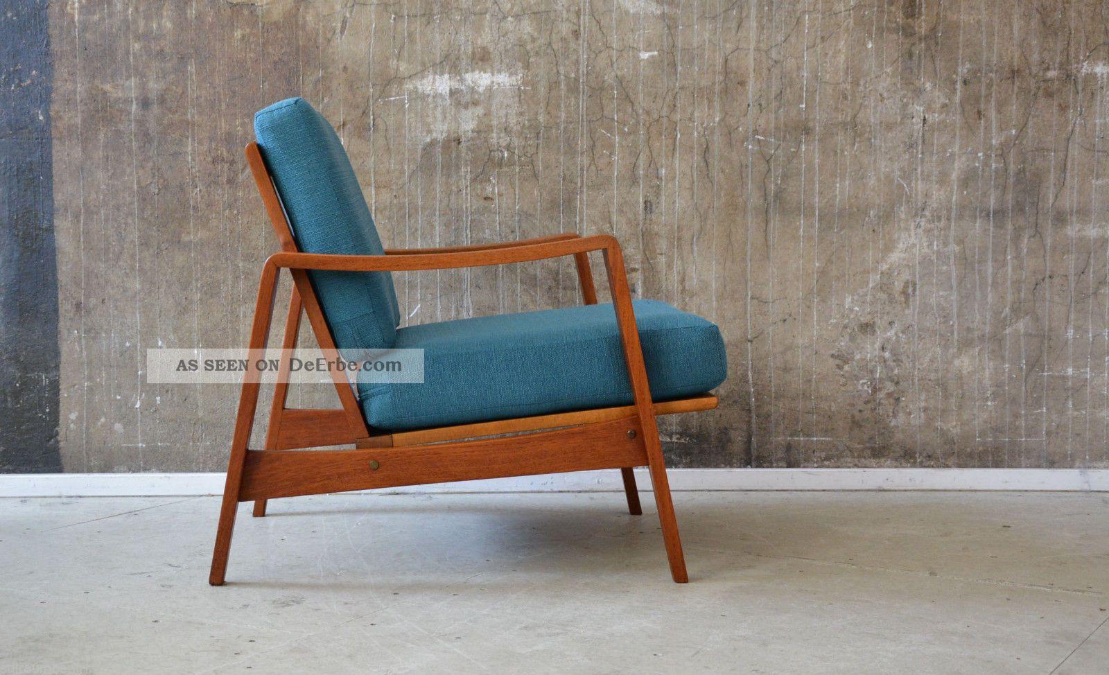 60er Arne Wahl Iversen Teak Sessel Danish Design 60s Easy Chair