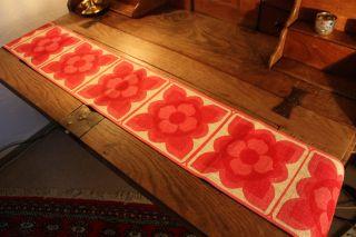 Tischläufer Vintage 70er Druck Auf Jute 20x120cm Kultig Bild