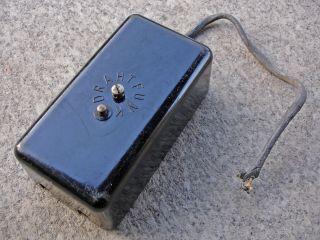 Drahtfunk Dose Telefon Anschlussdose 1938 Verteiler Bakelitdose Telefondose Alt Bild