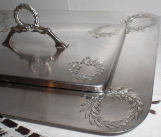 Wmf Straußenmarke Jugendstil Deckeldose Ohne Glaseinsatz Lorbeer Design Bild