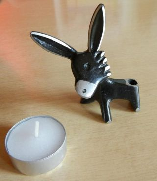 Walter Bosse Aluminium Figur Esel Stifthalter Donkey Penholder Bild