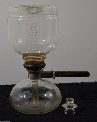Wilhelm Wagenfeld Kaffeekanne Jenaer Glas Sintrax 1932 Coffeepot Kaffeebereiter Bild