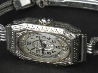 Gruen Jugendstil Bzw.  Art - Deco Damen - Armbanduhr In Sensationeller Schönheit 1920 Bild