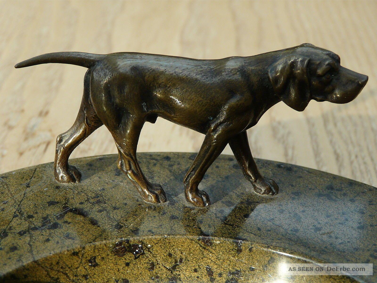 Antike Originale Vor 1945 Wiener Bronze Hund