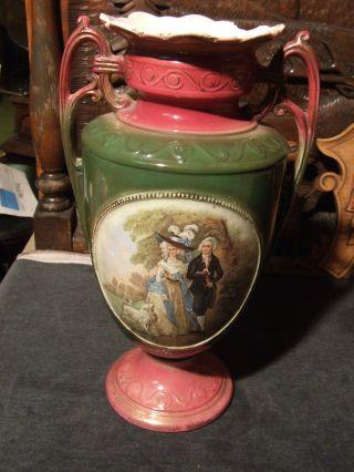Sehr Schöne Vase Amphore Aus Keramik Frankreich Um 1870 Bild