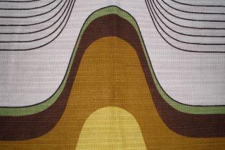 Vintage Vorhänge Curtains Orig.  70er Jahre,  Gelb - Senf - Grün - Braun - Weiß Gemustert Bild