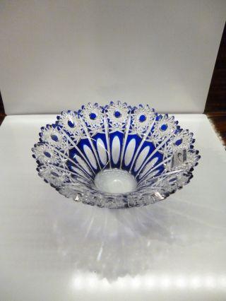 Schale,  Olbernhauer Bleikristall,  18 Cm / Königsblau Bild