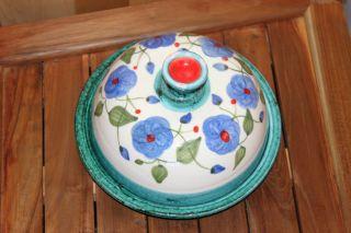 ♥ Käseplatte Käseglocke Handarbeit Blumendekor Kärntner Keramik Perdacher ♥ Bild