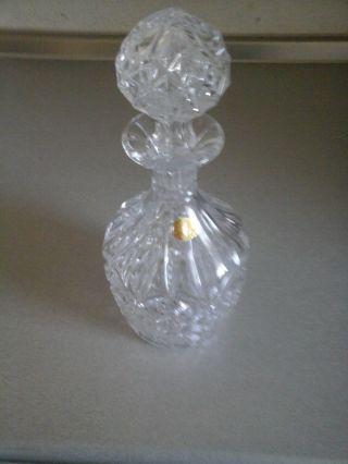 Wunderschöne Bauchige Karaffe Aus Echt Bleikristall Mit Etikett Bild