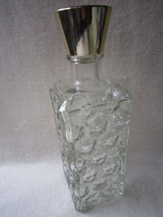 RaritÄt Likör Karaffe Pressglas Ca.  0,  5 L Flasche Mit Schraubverschluss 1 Bild