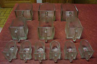 Glasschütte Glastopf Küchenschrank Gewürzregal Glasbehälter 12 Gläser Bild