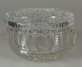 Schöne Kristall Deckeldose Kristalldose Mit Deckel 6cm Handgeschliffen Um 1900 Bild