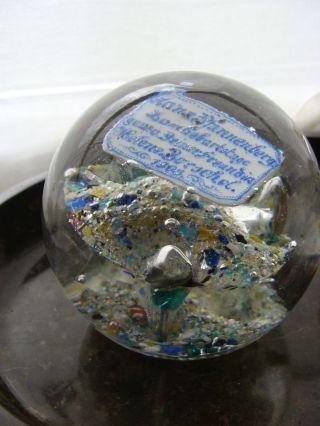 Briefbeschwerer Antik Paperweight Lauscha Datiert 1903 Blumen Kugelglas 945 Gr Bild