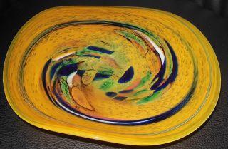 Seltene Formschöne Murano Schale Mit Gekugelten Und Geschliffenen Abriss Ø 25cm Bild