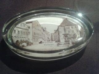 Alter Briefbeschwerer Aus Glas.  Eichstätt Marktplatz. Bild