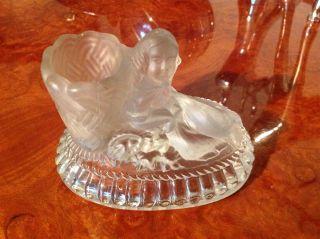 Briefbeschwerer Bleikristallglas Figur Saint Louis Um 1872 Sammlung Musée Bild