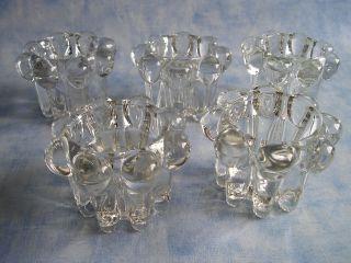 5 Kerzenleuchter Kerzenständer Tafelkerzenständer Glas Bild
