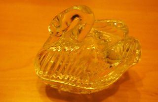 Schwan,  Glasschwan,  Kristallschwan,  Schale Mit Deckel Glas Glasfigur Schwer Bild