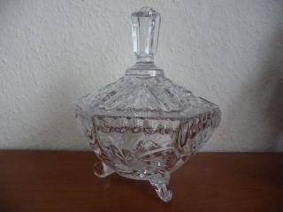 Wunderschöne Schale Mit Deckel Bonboniere Bleikristall Bild