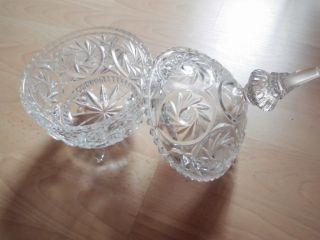 Bleikristall Schale Mit Deckel Und Sternschliff,  Bonboniere,  Konfekt Bild