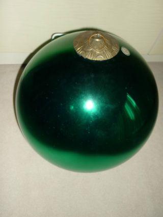 Große Silberglaskugel Grün