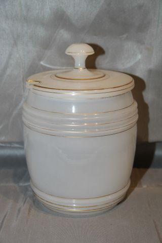 Grosser Biedermeier Alabasterglas Behälter (bowle?) Um Ca.  1830 Bild