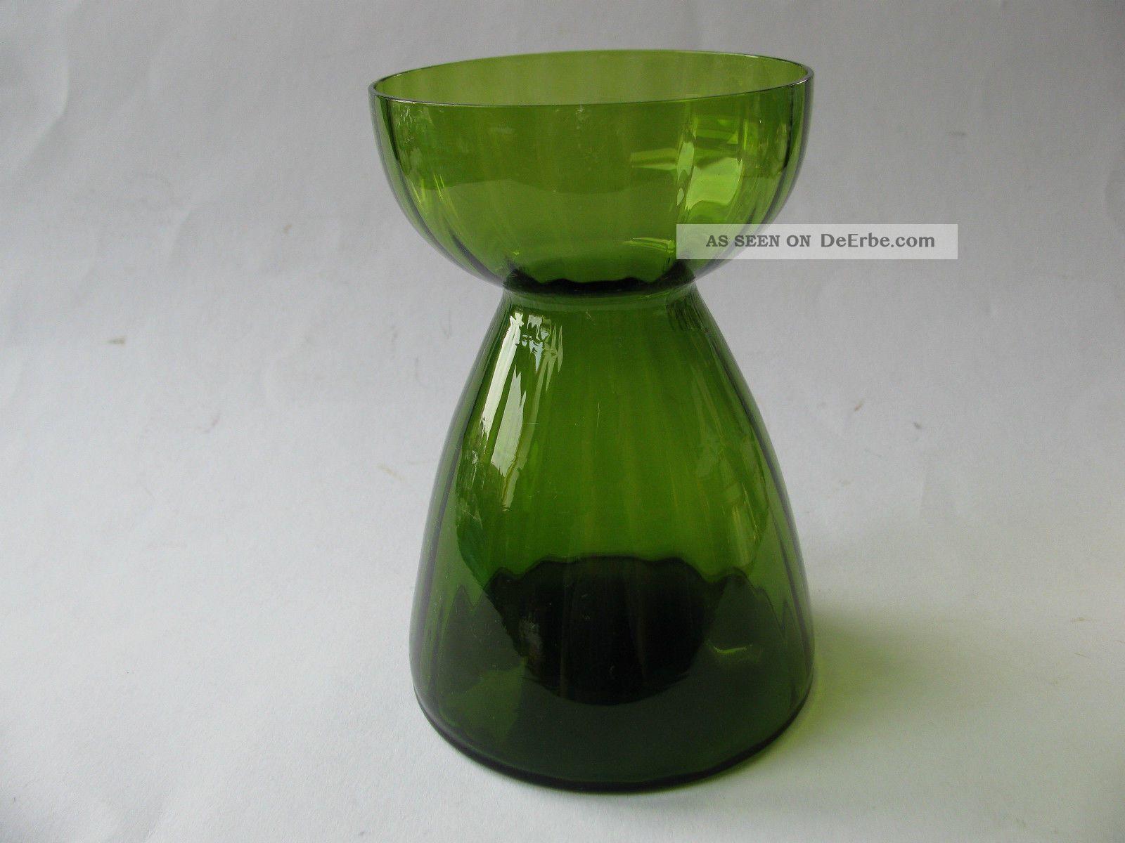 altes hyazinthenglas hyazinthenvase glas vase gr n. Black Bedroom Furniture Sets. Home Design Ideas