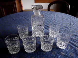 Lausitzer Bleikristallgläser,  6 Stück,  Mit Karaffe Bild