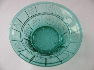 Kleine Jugendstil Art Deco Schale Schälchen Pressglas Stiefmütterchen Blaugrün Bild