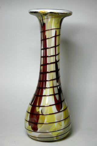 Große Glasvase Vase Weißes Glas Buntes Überfangglas - Lauscha ??? Bild
