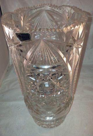 Kristallvase Bodenvase Bleikristall Handgeschliffen24 Pbo - 30 Cm - 2850g Bild
